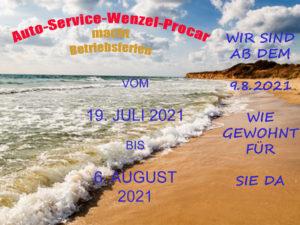 Betriebsferien Auto Service Wenzel Procar berlin